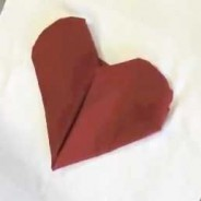 Valentine's Day Heart Shaped Napkin Fold