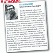 Donald Struminger Recognized by the TRSA